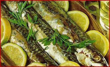 Receta de sardinas con ajo.