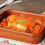 Bacalao con tomate.