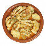 Cómo preparar unas patatas con choco.