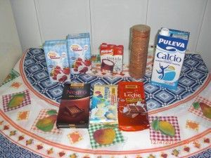 Ingredientes de la tarta tres chocolates