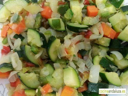 Verduras saltadas con  calabacín
