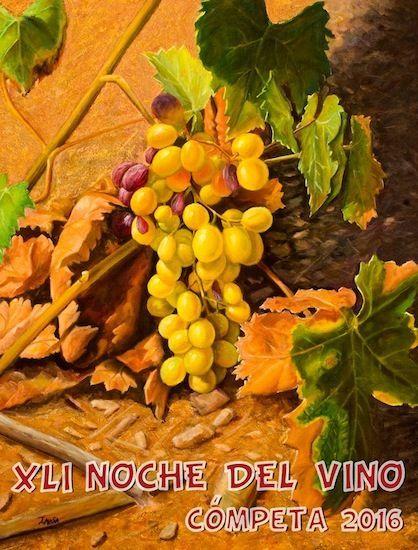 Cartel de la Noche del Vino de Cómpeta , autor José Fernando Mesa Fernández
