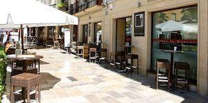 Restaurante El Deseo en la plaza de la romanilla, cerca de la Catedral de Granada