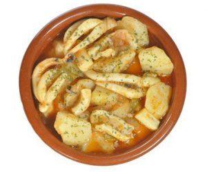 Receta patatas con choco