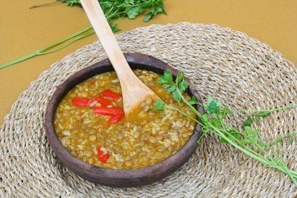 Receta de lentejas con arroz