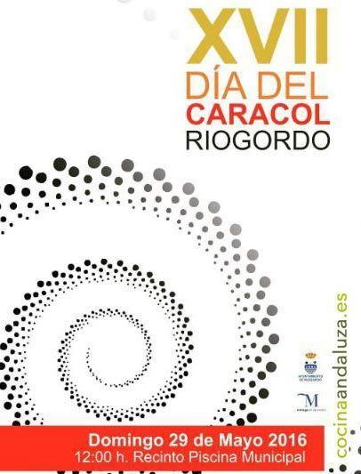 Cartel del Día del Caracol de Riogordo 2016