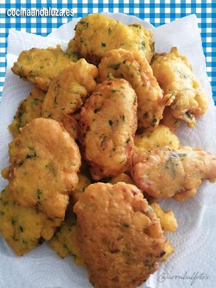 Tortillas de bacalo receta Andaluza