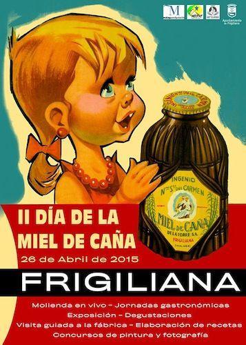 Cartel del II Día de la Miel de Caña en Frigiliana