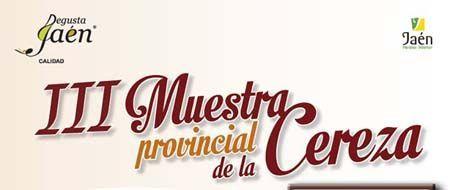 Muestra de cerezas de Jaén