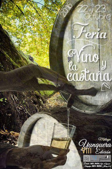 Cartel de la VIII edición de la Feria del Vino y la Castaña obra de José Antonio Macías