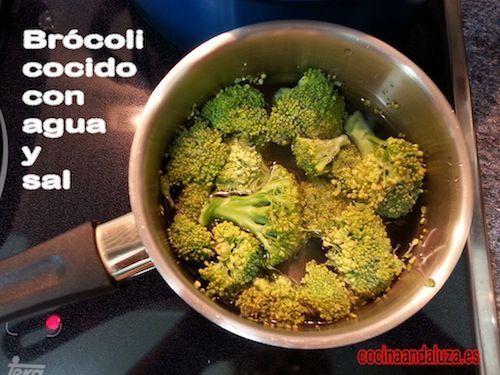 Podemos servir las lentejas con brocoli cocido con agua y sal