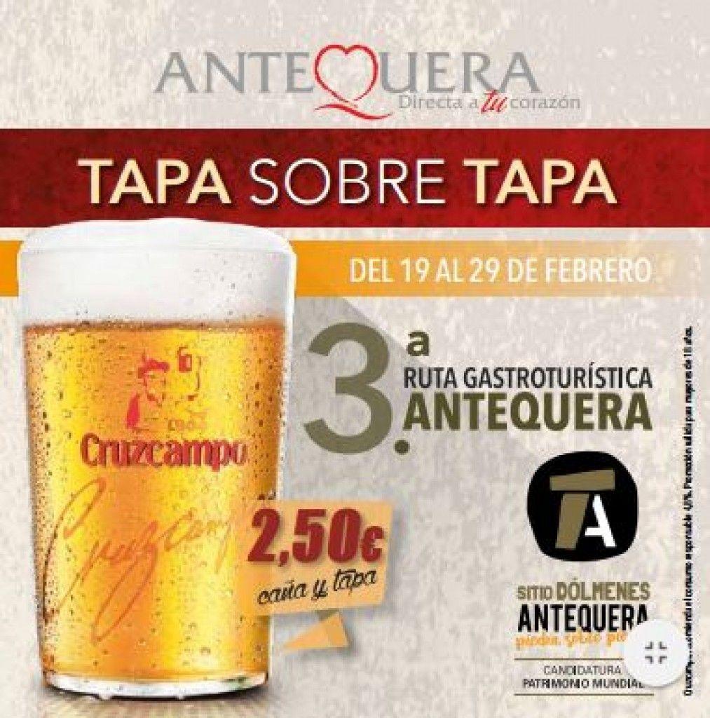 """Tercera Ruta Gastroturistica de Antequera """"Tapa sobre Tapa"""""""