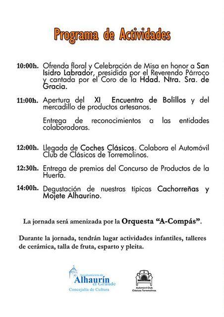 Programa de la Fiesta de la Cachorreña 2016 en Alhaurín El Grande