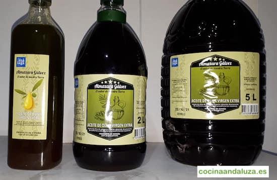 Aceite de oliva virgen extra de Almazara Galvez